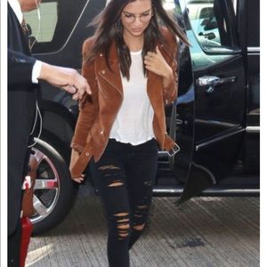 Jackets & Blazers - Leather suede jacket